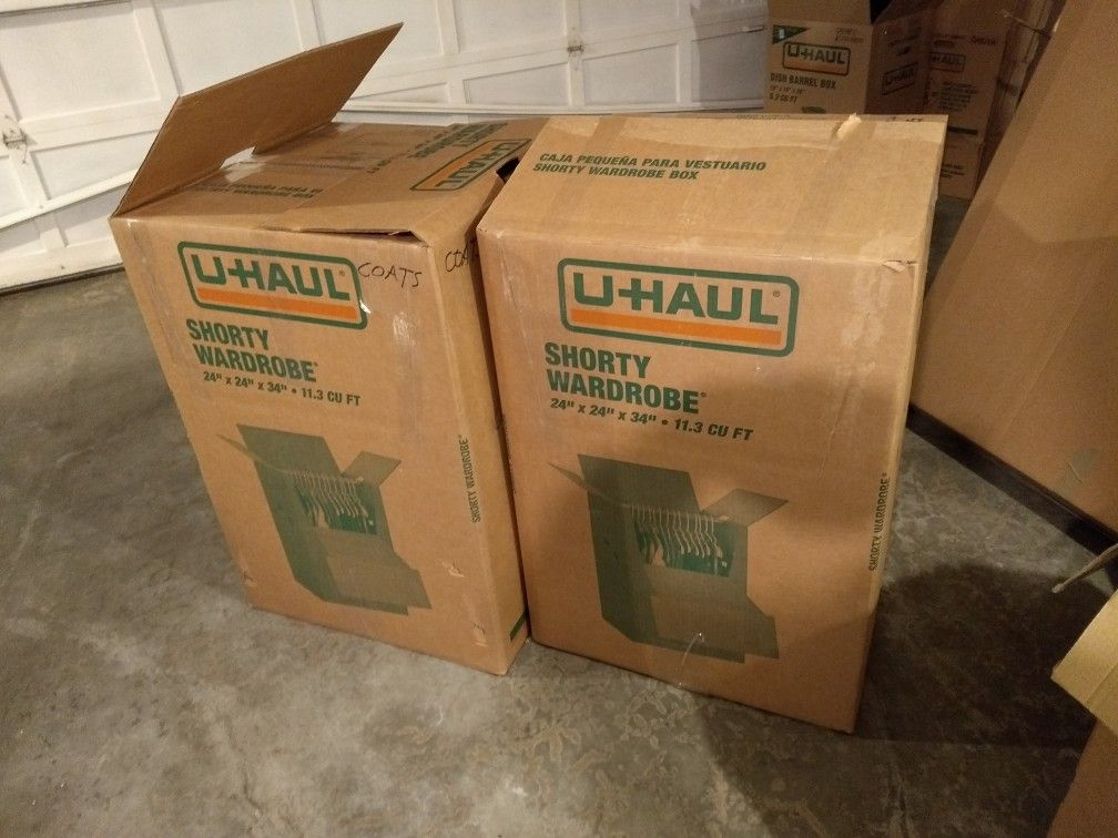 Moving Boxes And Wrapping Paper