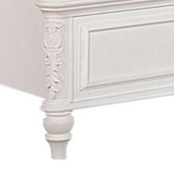 Saltoro Sherpi Wooden Twin Size Bed with Button Tufted Headboard, Pink and White Thumbnail