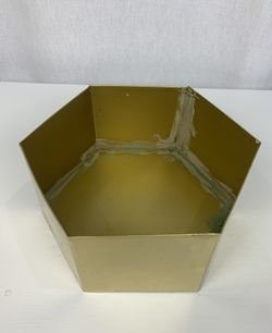 7 Gold Metal Hexagon Flower Pots Thumbnail