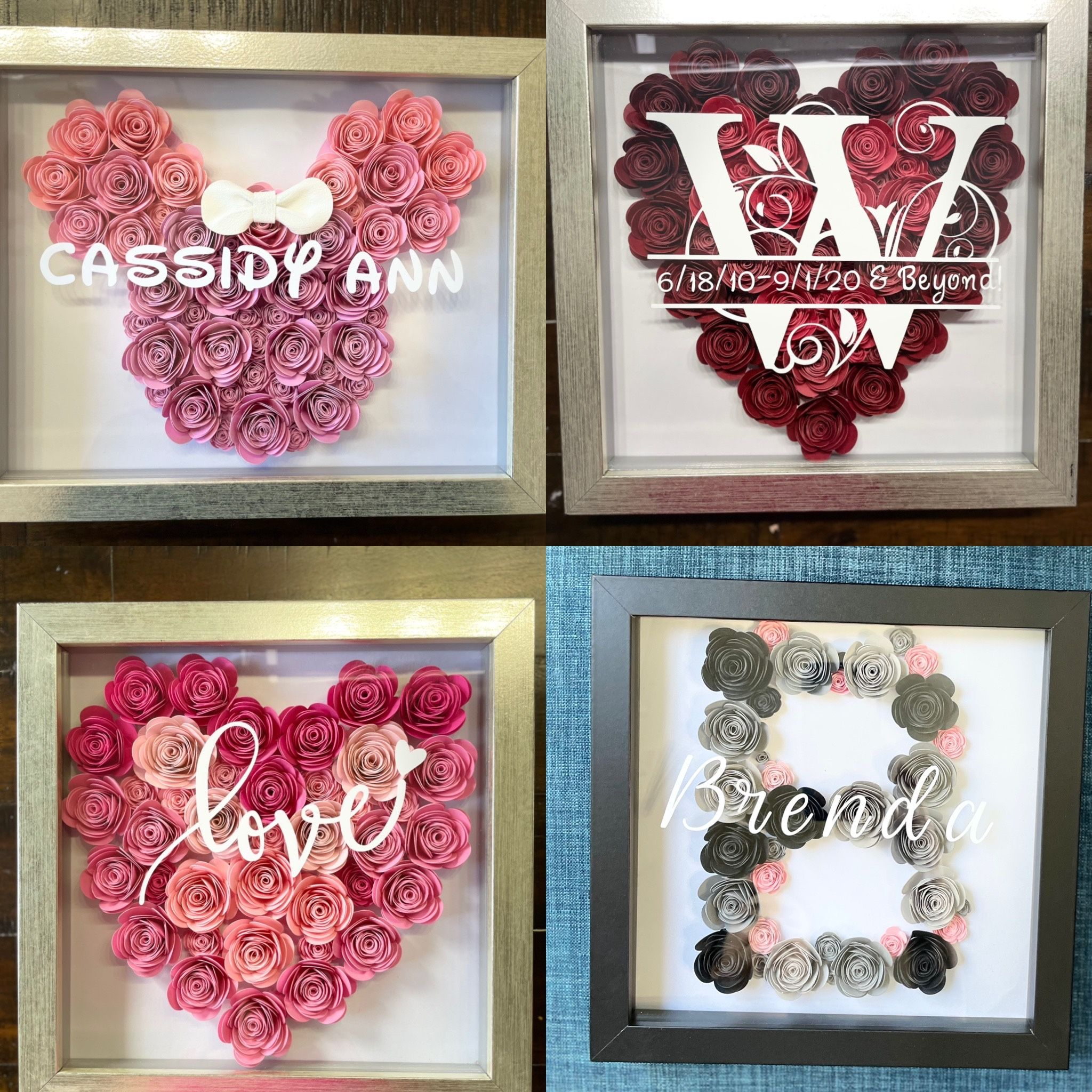 Personalized Rose Shadow boxes for ALL Occasions!