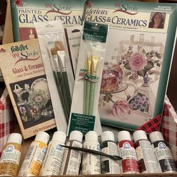 .Donna Dewberry - Glass in ceramics paint kit Thumbnail