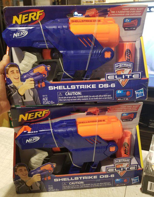 Nerf Shellstrike DS-6 Set Of 2 *new*