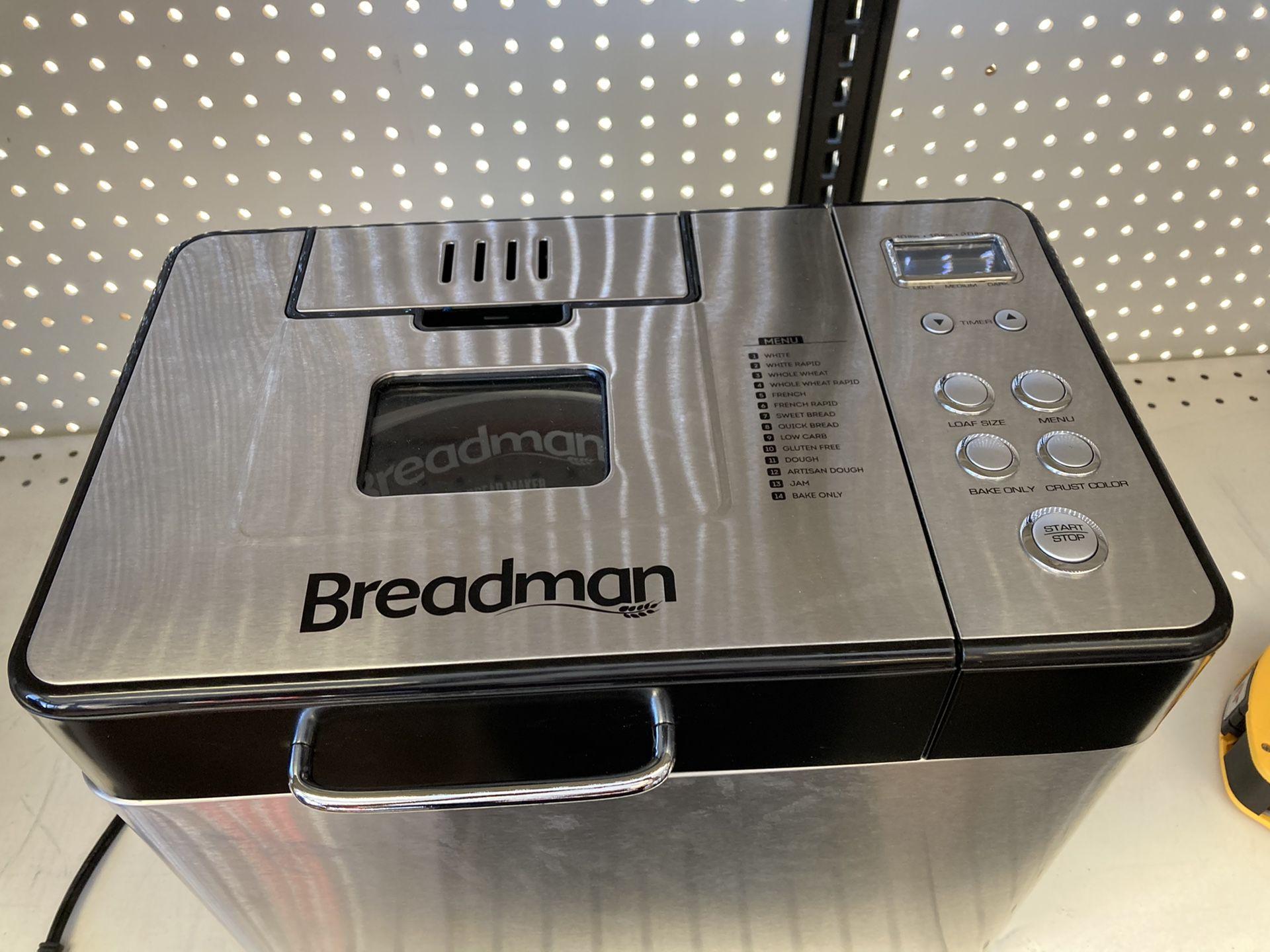 Breadman 2 lb Professional Bread Maker, Stainless Steel, BK1050S
