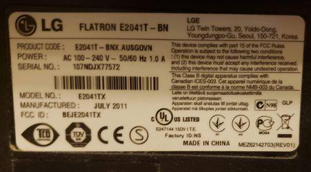 LG monitor FlatronEt2041T Thumbnail