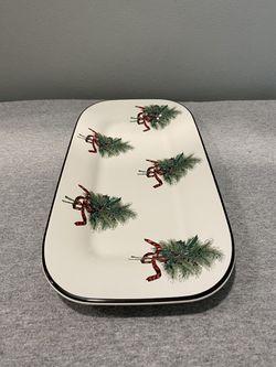 Pfaltzgraff Wreath Christmas bread plate Thumbnail
