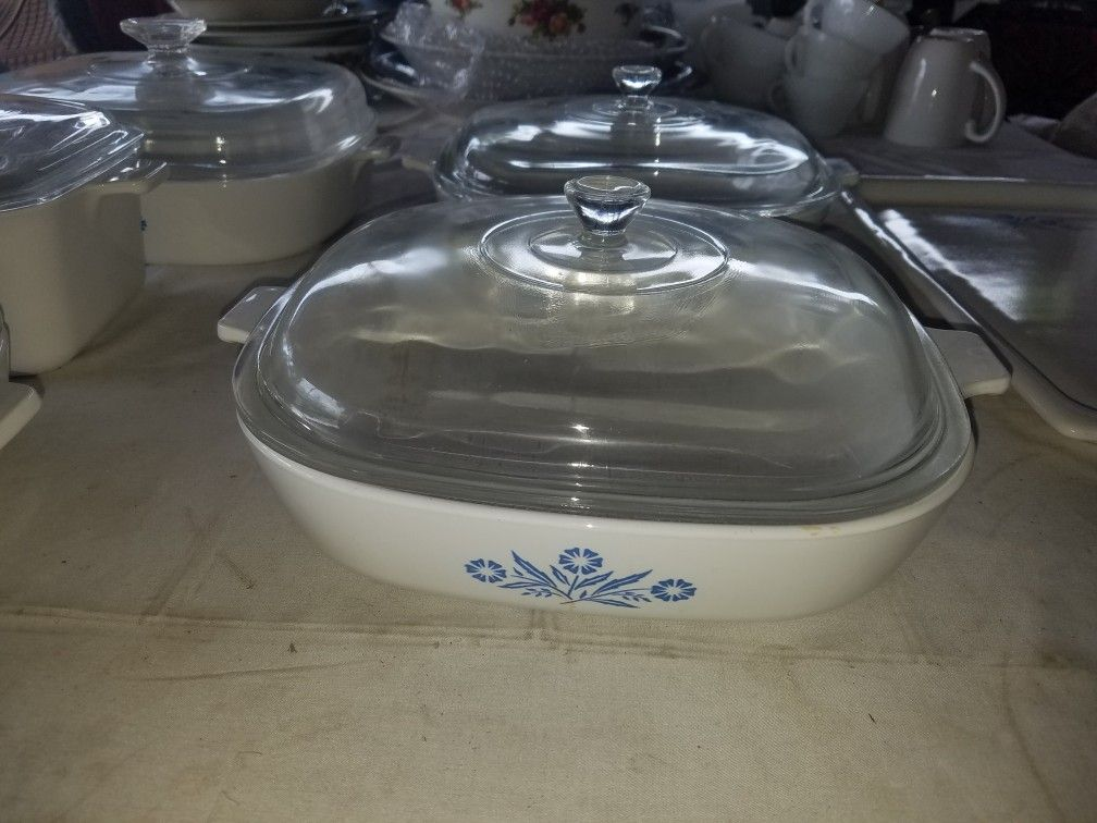 Vintage Corningware classic Blue Cornflower baking dishes 13 pcs see last photo for list of included A82Z081