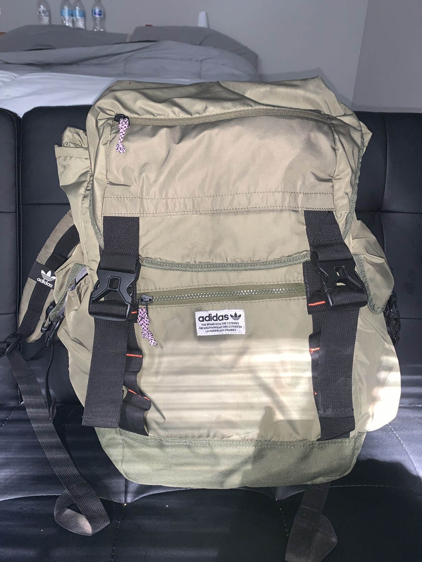 Olive Green Adidas backpack