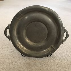 Vintage Plymouth Pewter Plate Serving Dish 83912 Thumbnail