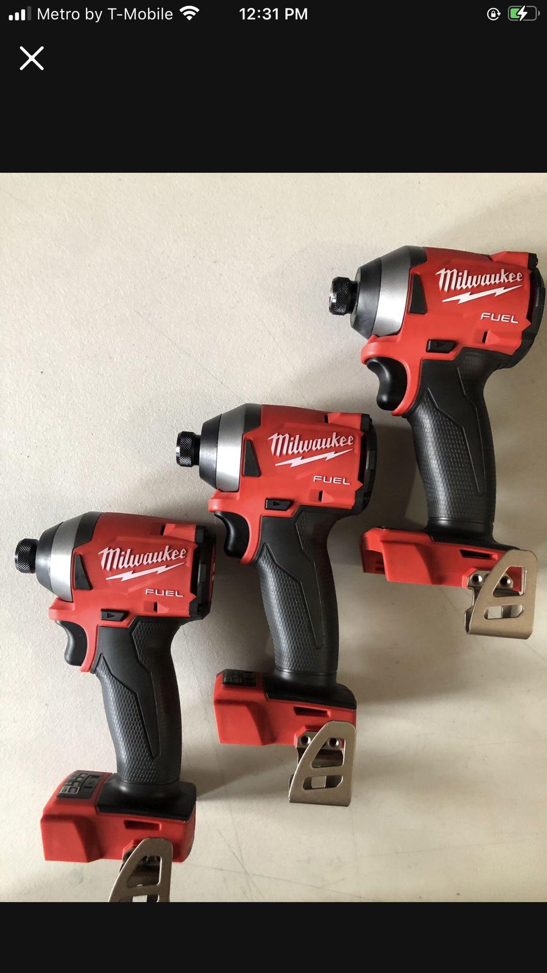 Milwaukee New Impact M18fuel -3 Speeds $99 Each