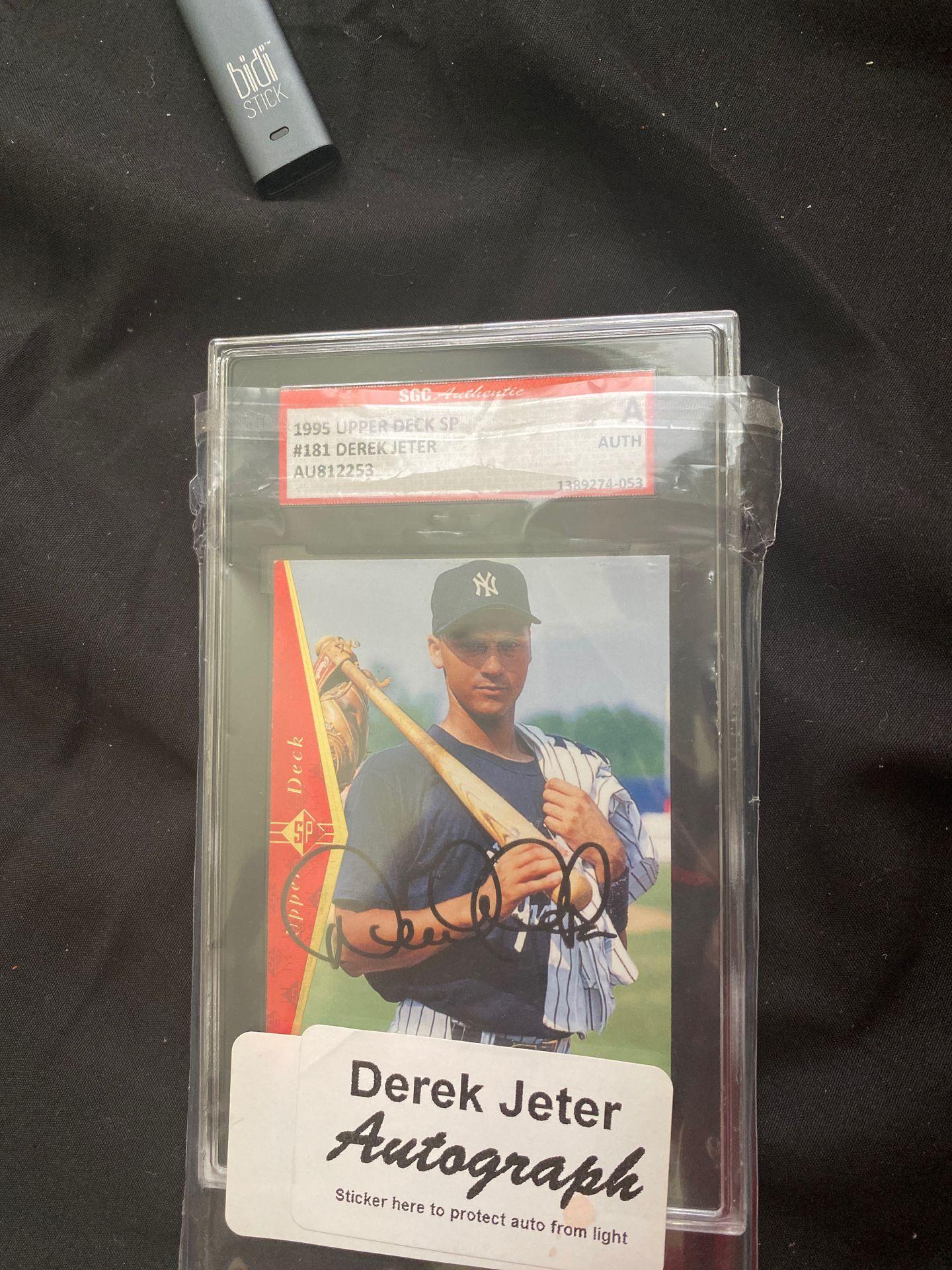 Derek jeter signed card