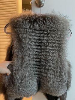 Fur Vest Black Fox Thumbnail