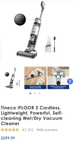 Tineco iFLOOR3 Cordless Wet Dry Vacuum Cleaner, Lightweight, One-Step Cleaning for Hard Floors Thumbnail