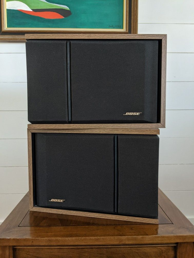 Bose 201 Series III Direct Reflect Stereo Speakers, Wood Grain