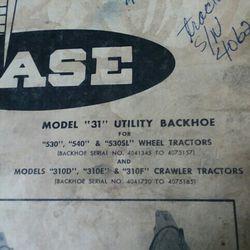 Case Backhoe Model31 Manual Thumbnail