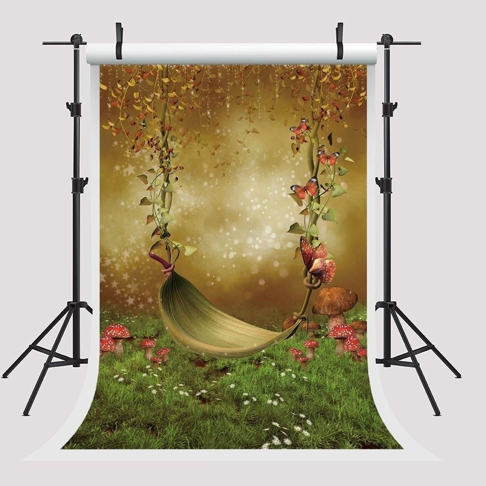 5x7ft Party Booth Props Mushroom Backdrops for Photography Polka Photo Booth Props for Children
