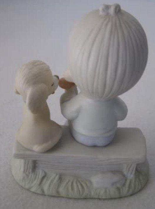Precious Moments Figurine - Loving Is Sharing - Boy #E-3110B