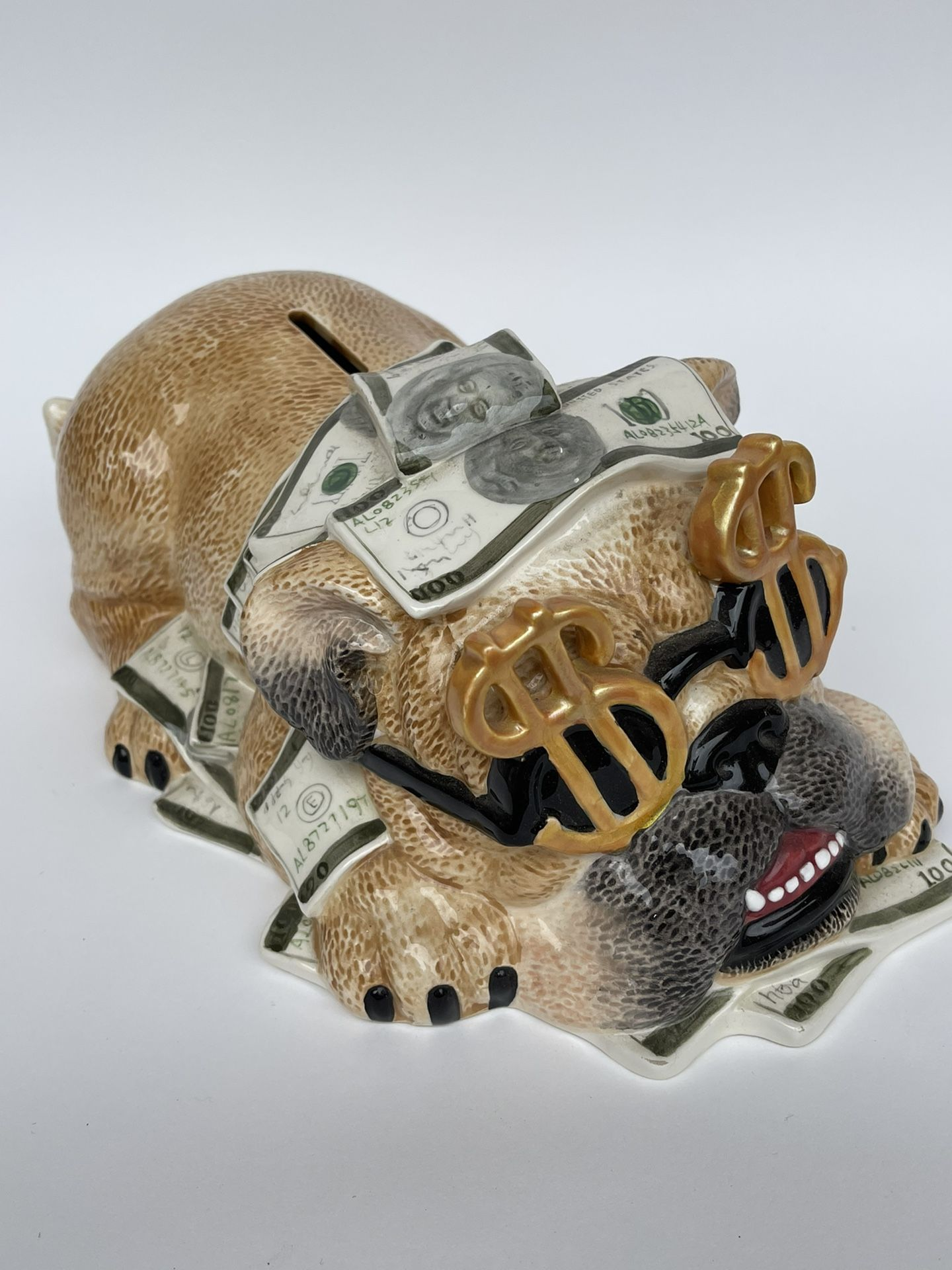 Art Sculpture Decor Money Gift Furniture Dog Puppy