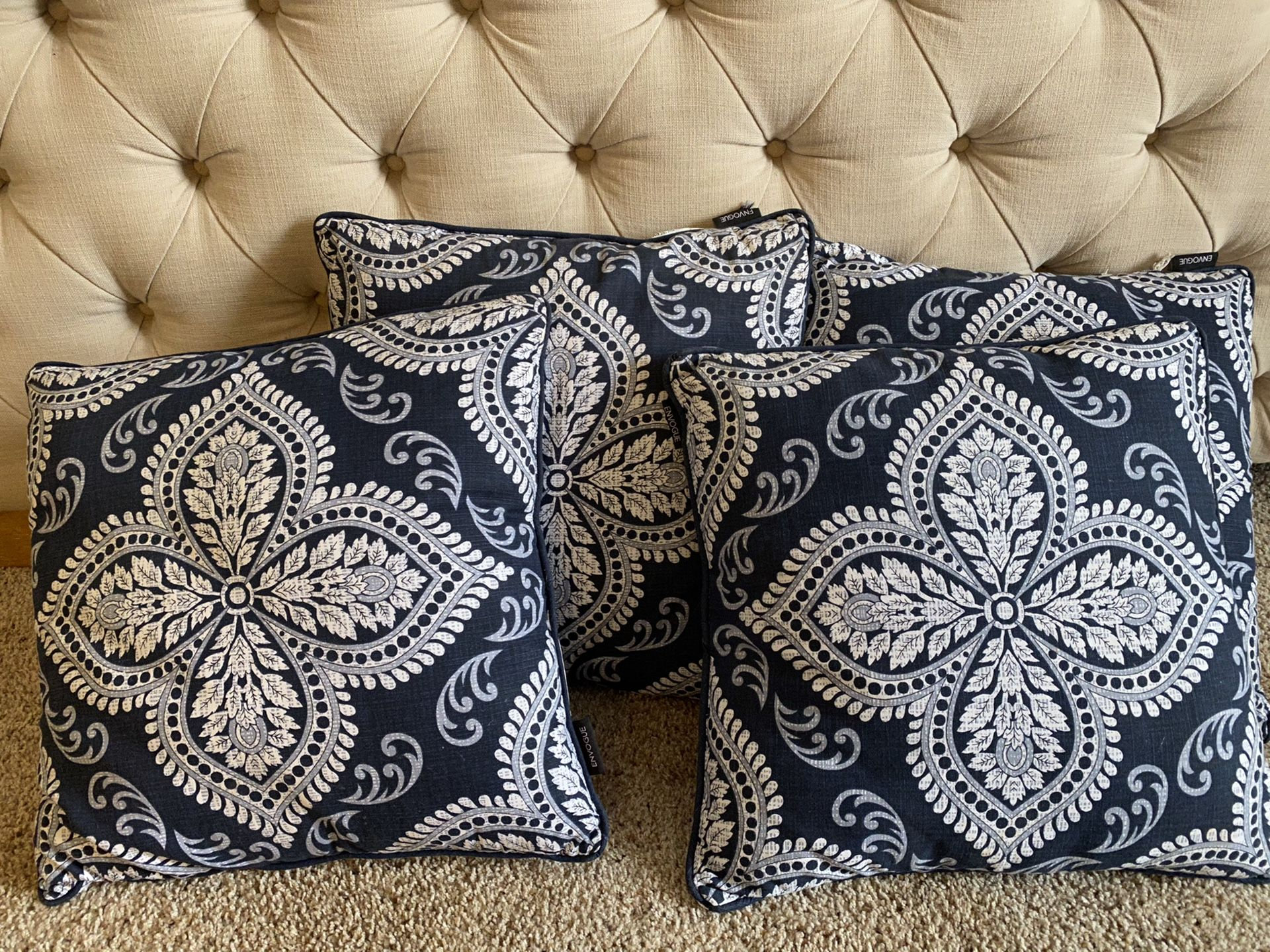 Navy blue Throw Pillows
