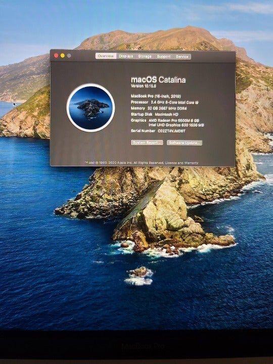 2019 MacBook Pro 1TB