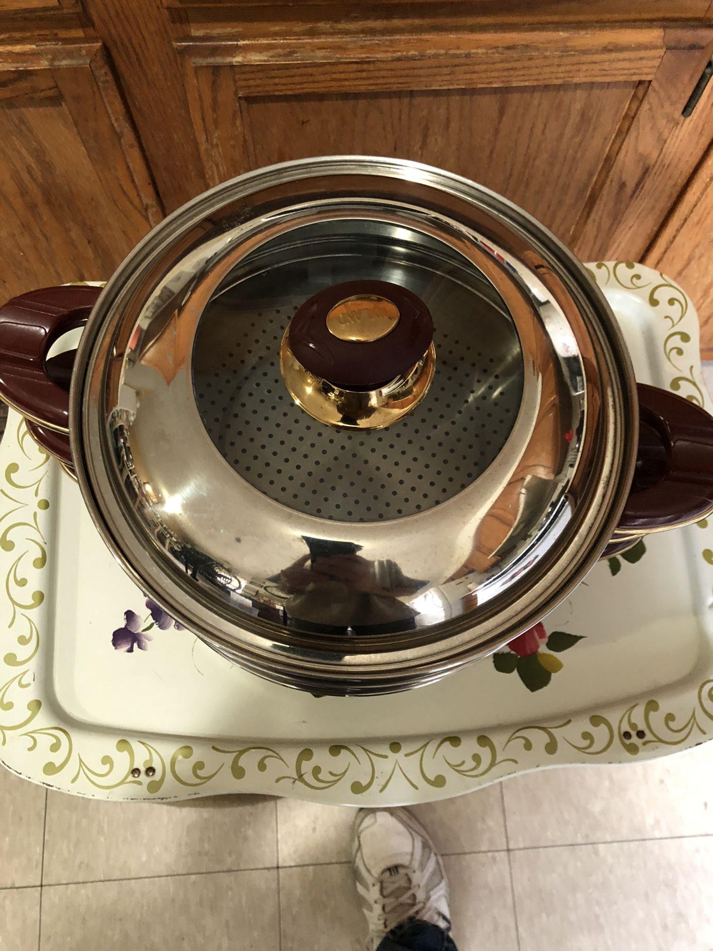 Stovetop steamer to tears plus pot