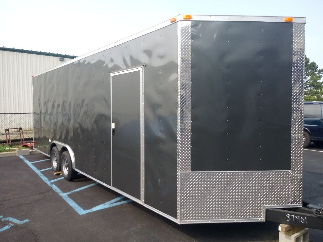 VNOSE ENCLOSED TRAILERS NEW 20FT 24FT 28FT 32FT RACE CAR