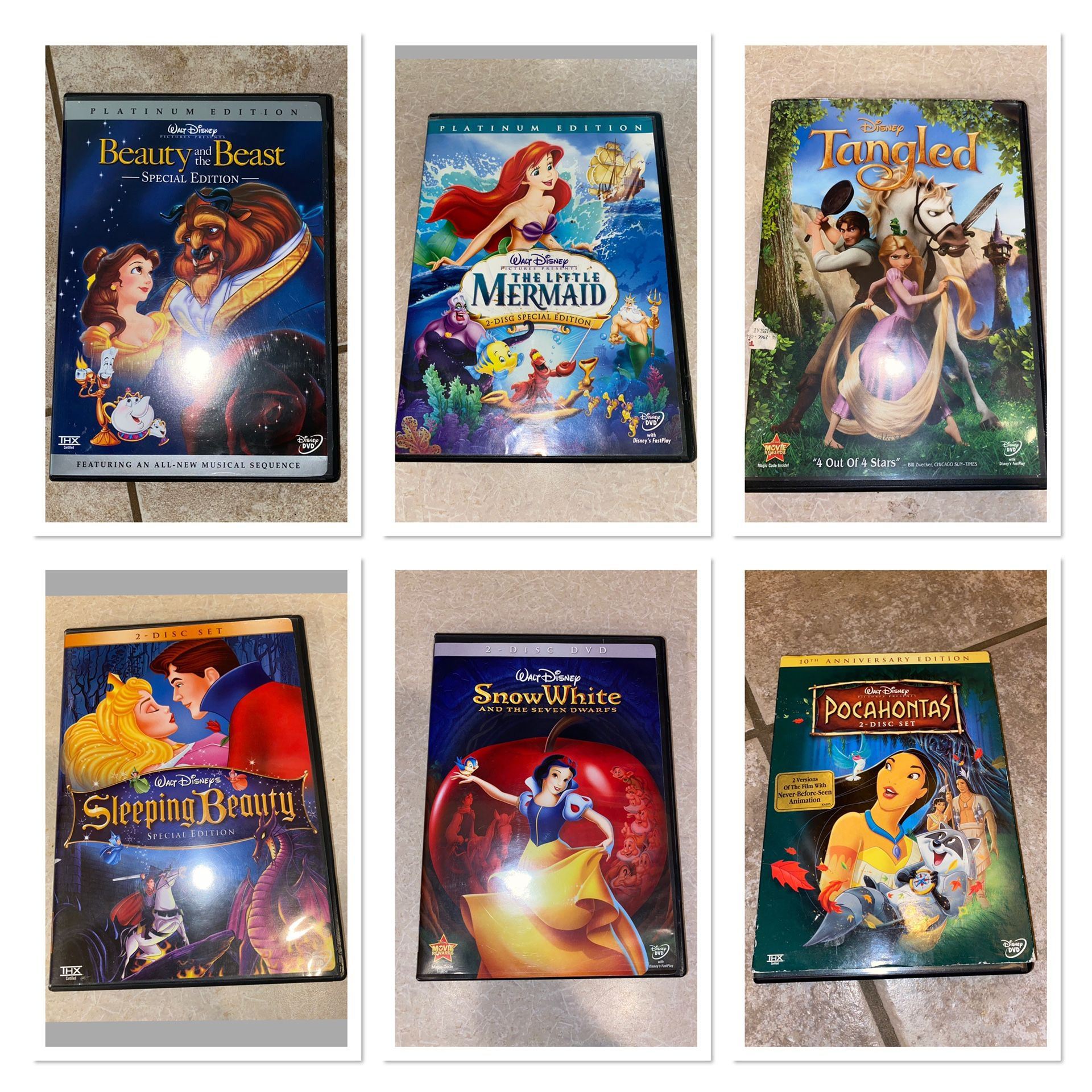 Disney Princess DVDS