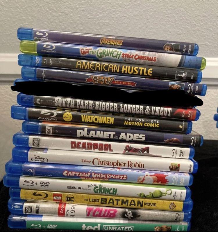 Blu Ray Movie Lot