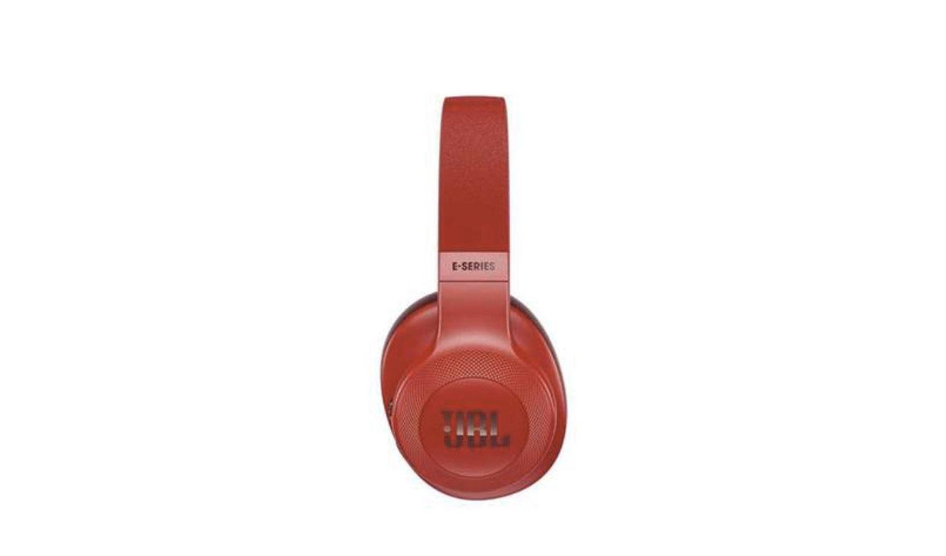 Red JBL E55BT Wireless Over Ear Headphones