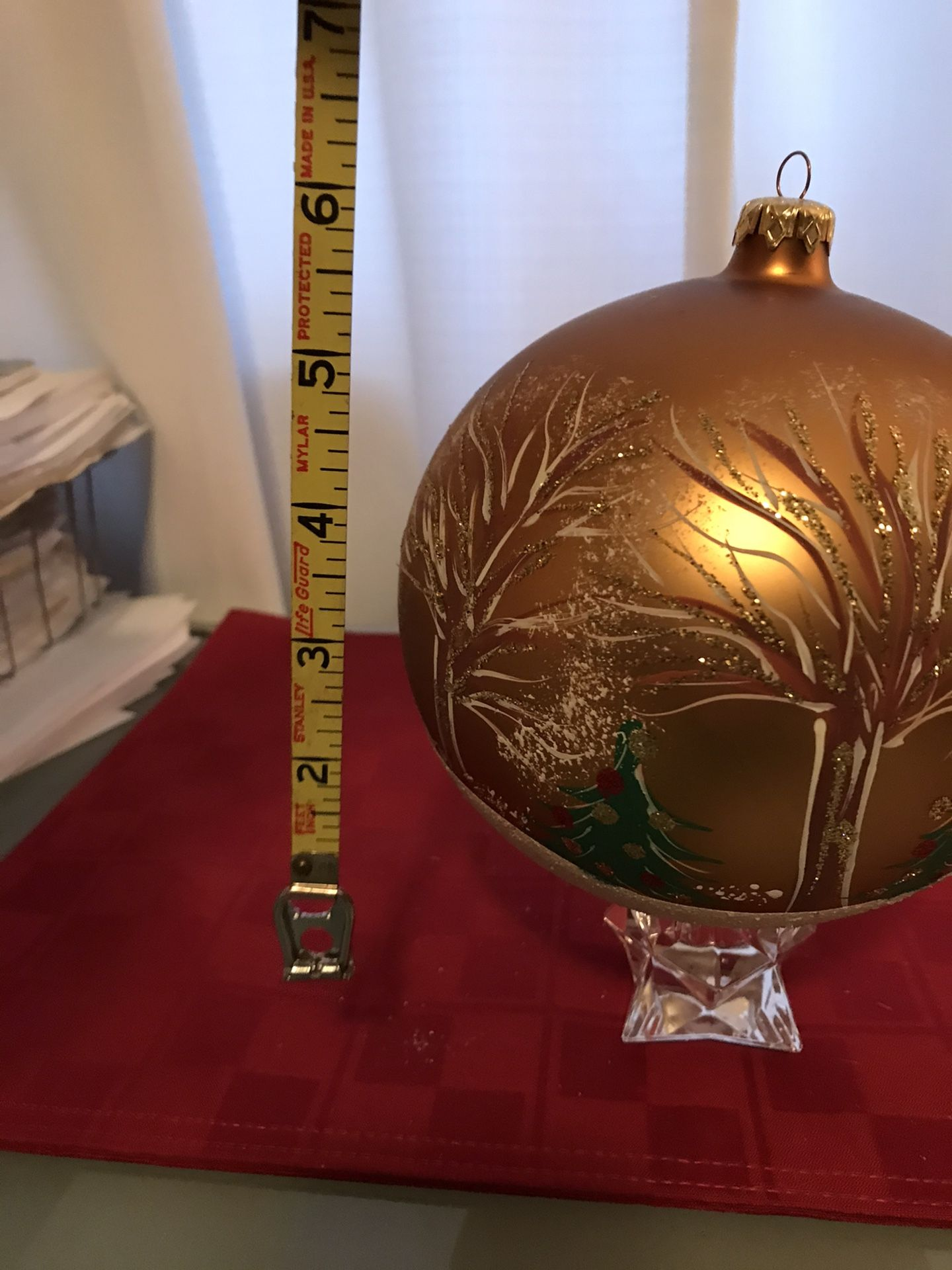 Giant Decorative Hand Made Christmas Ornament Trees and Snow