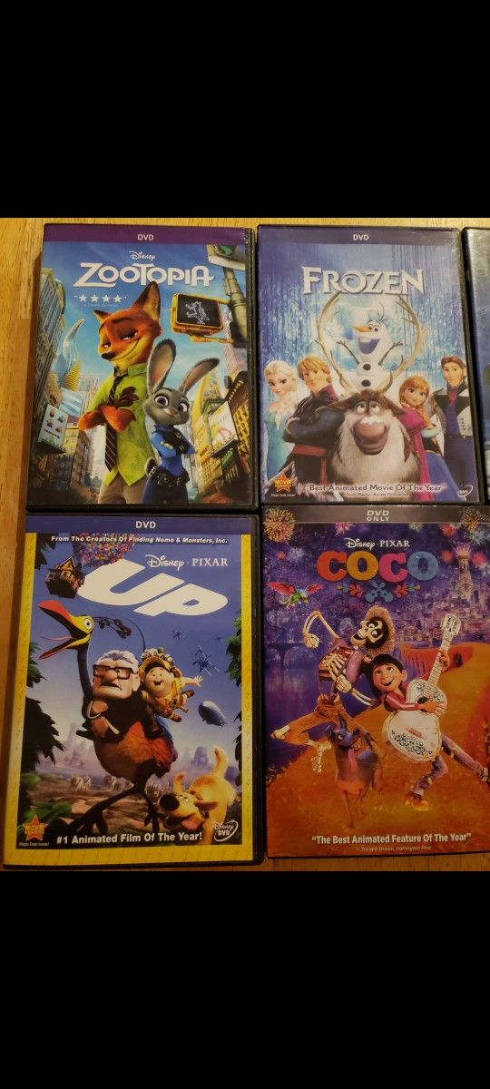 6 Different Disney animated movies