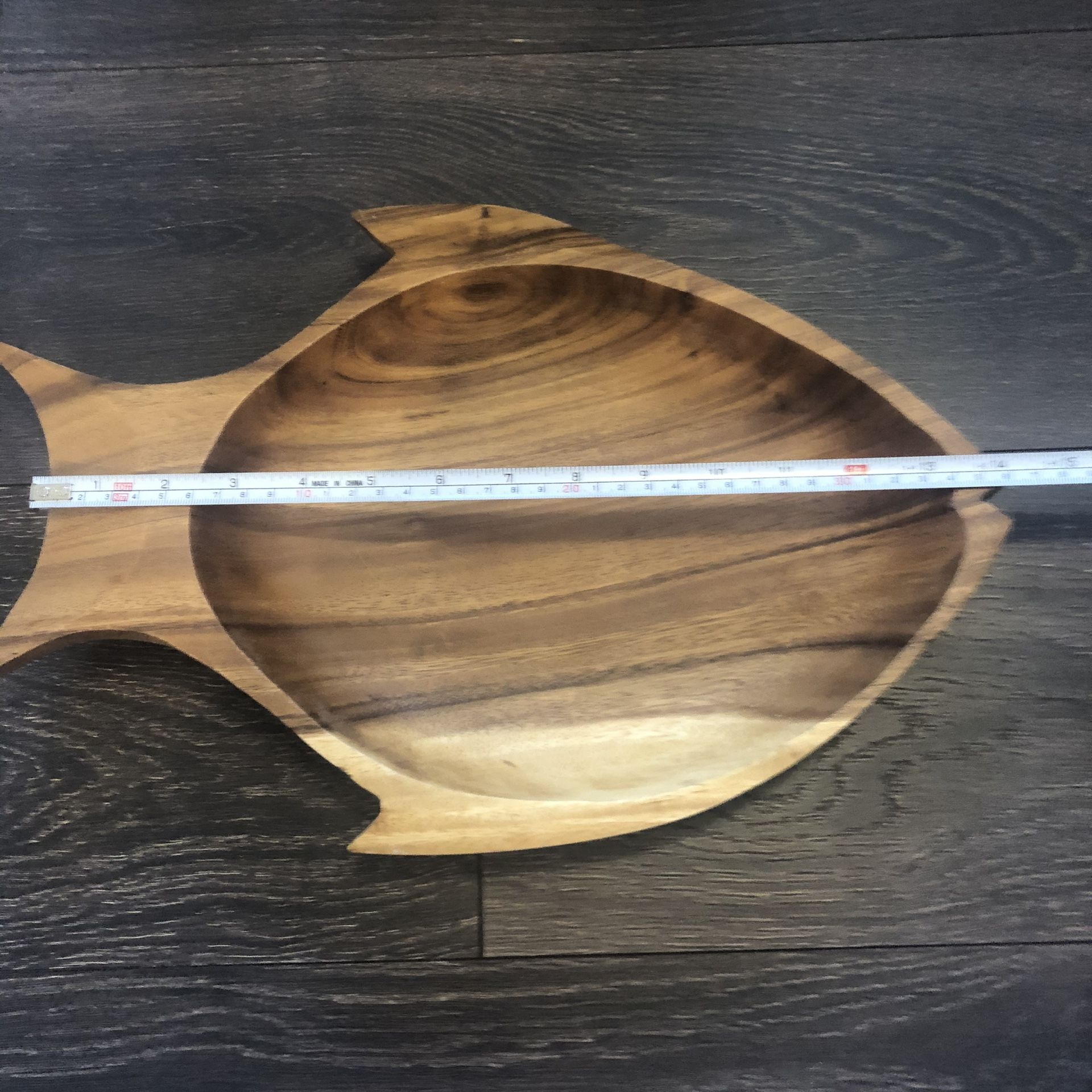Wooden carved Fish Bowl