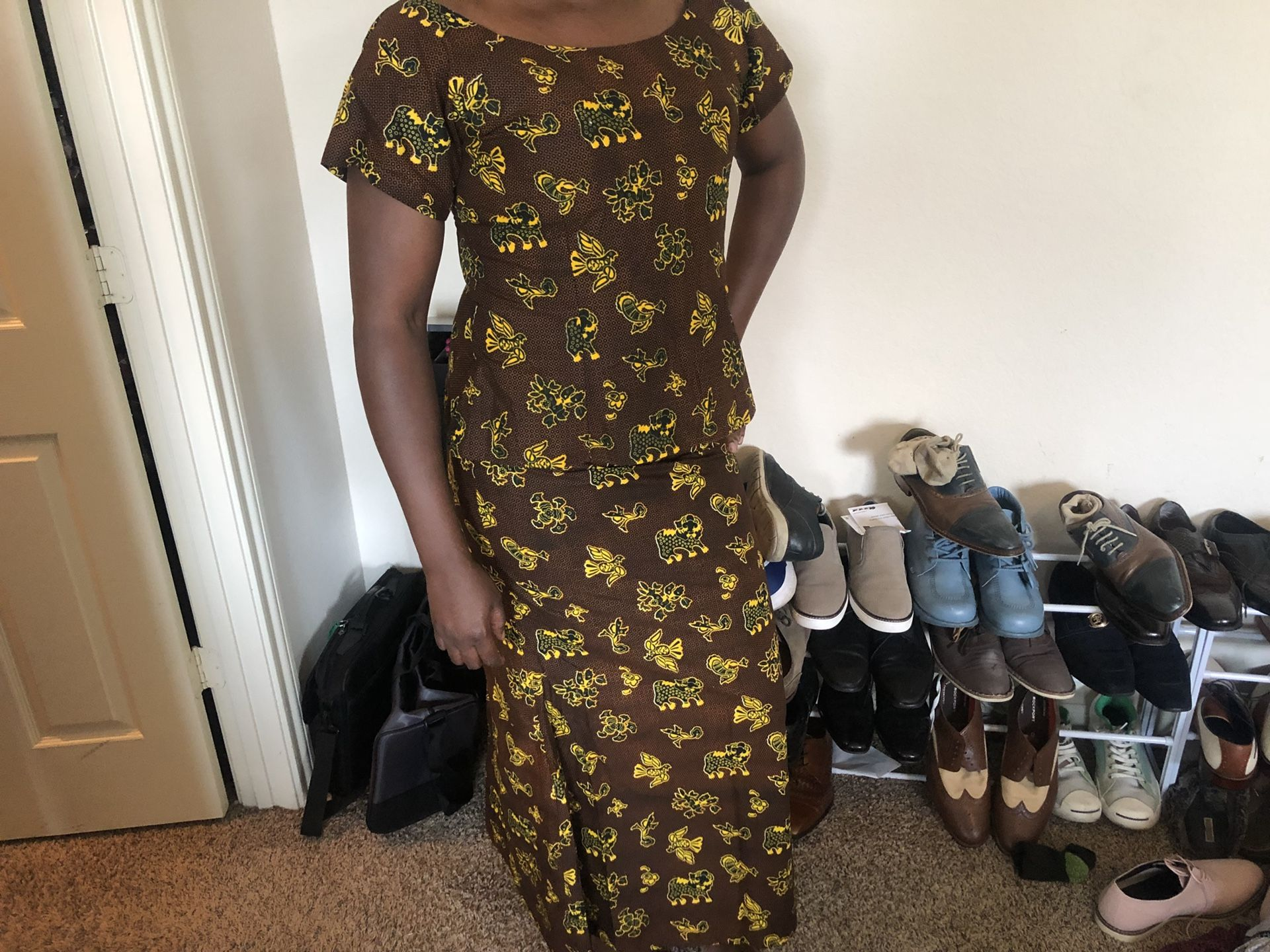 African formal outfit