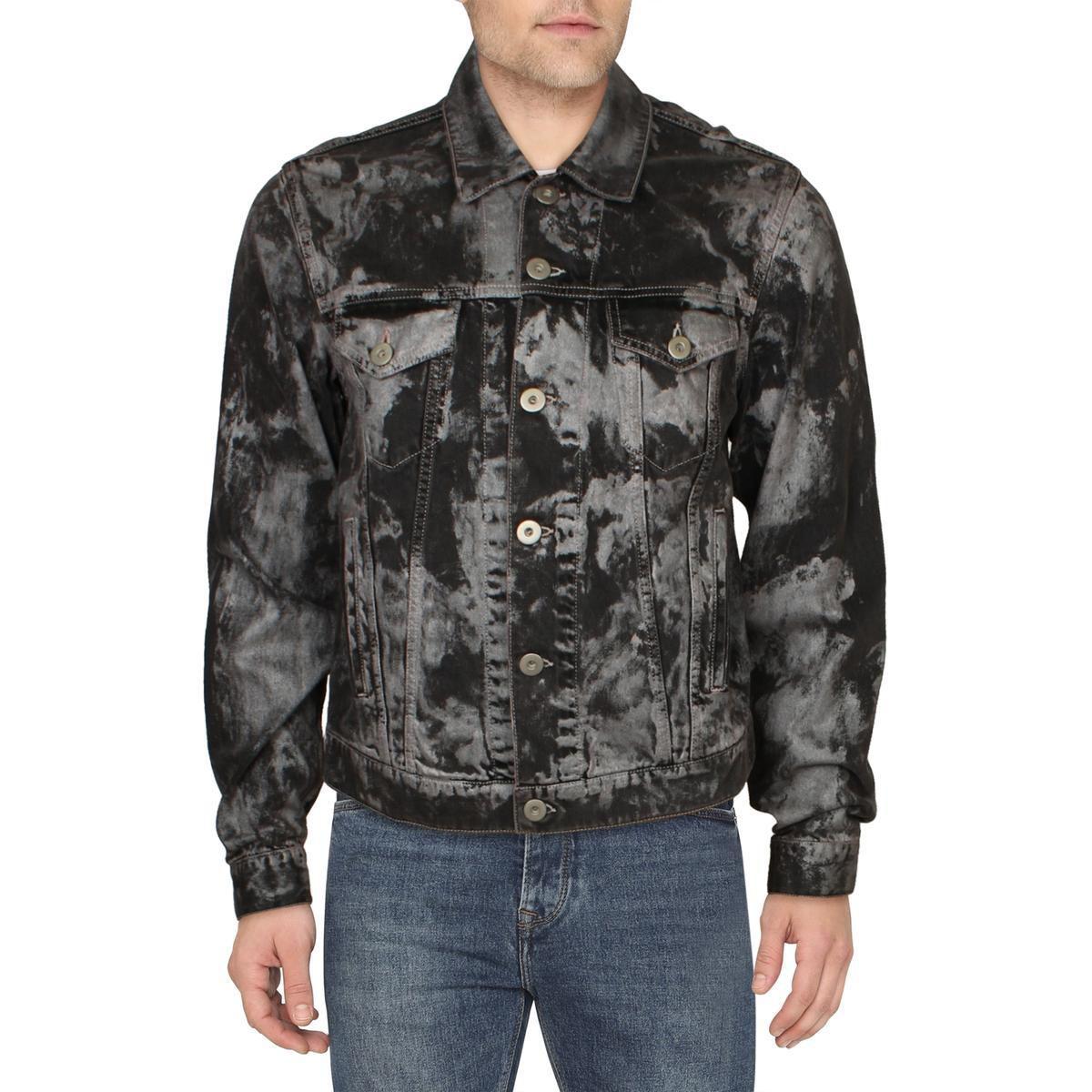 Faith Connexion Mens Jean Jacket Black Size Medium