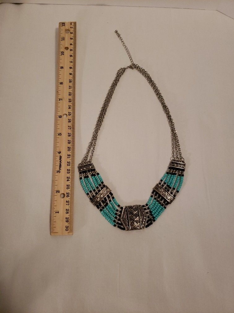 Turquoise Costume Beaded Necklace