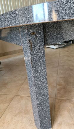 Large Gray Formica Table Thumbnail