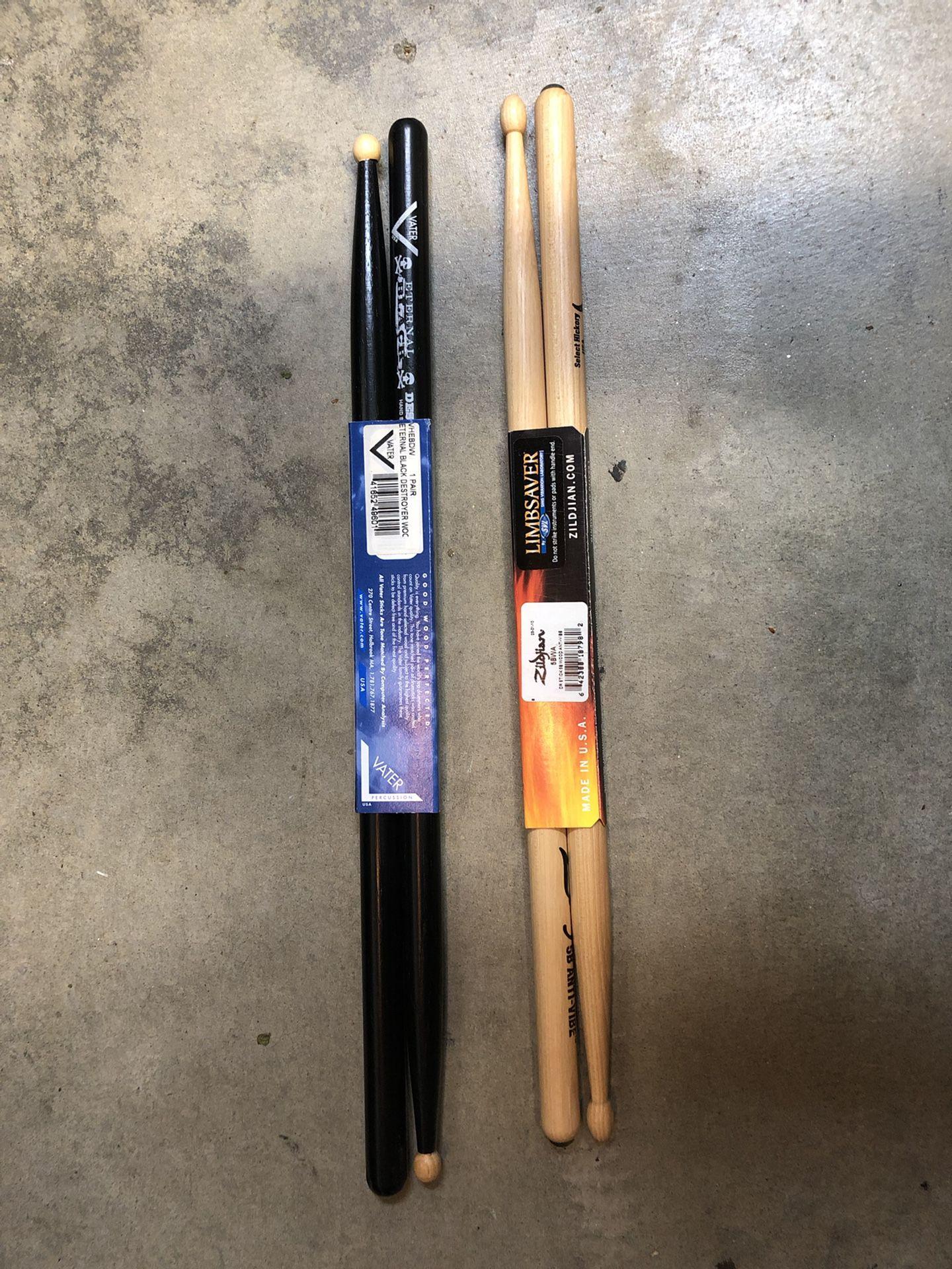 Brand New Drumsticks (Zildjian & Vater)