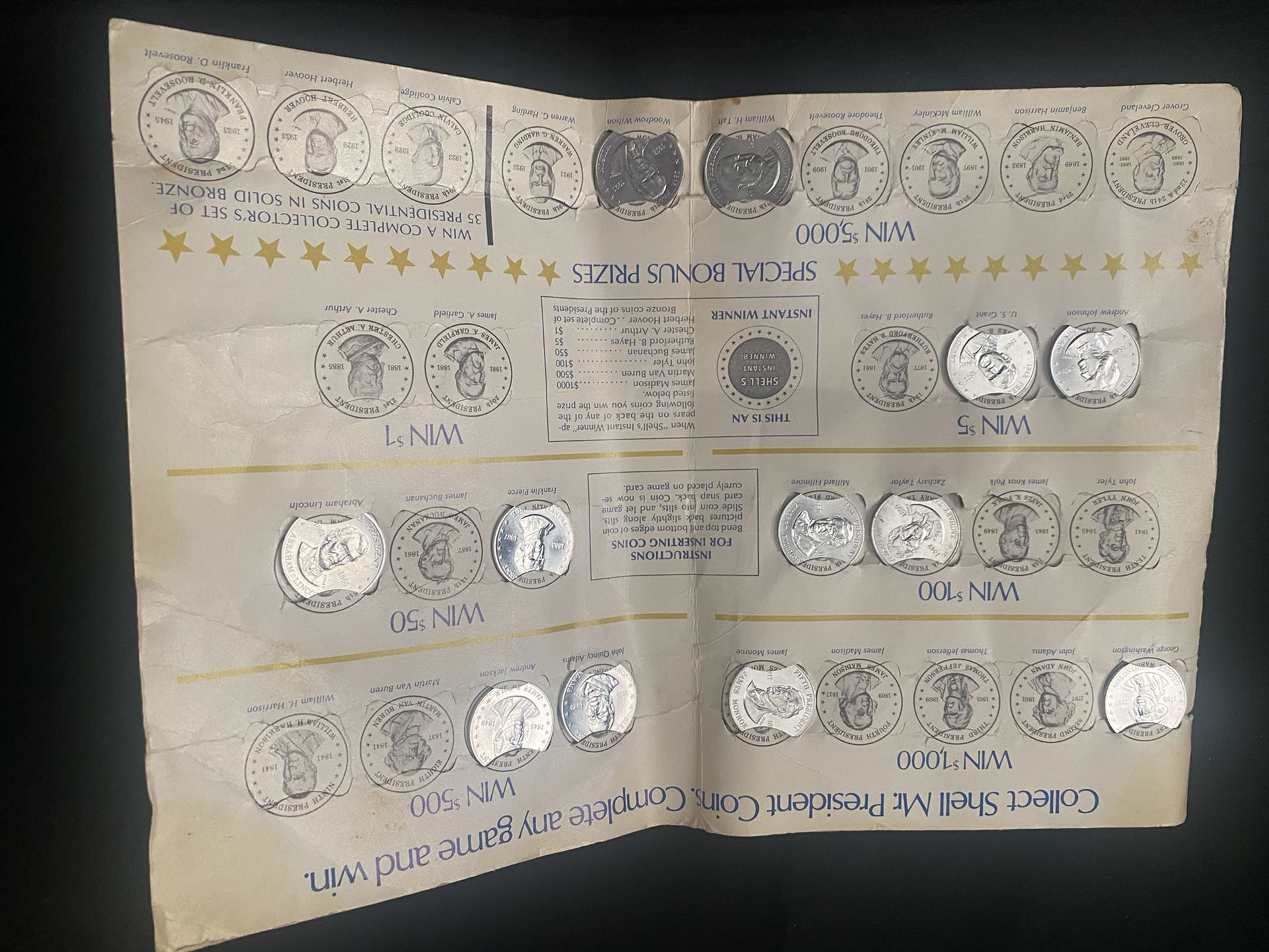 Shell Gas Station 1968 Presidential Coins Lot Of 12