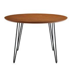 "46"" Round Hairpin Leg Dining Table - Walnut ��� ��� ��� ��� ��� Thumbnail"