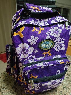 Hawaiian rolling backpack Thumbnail