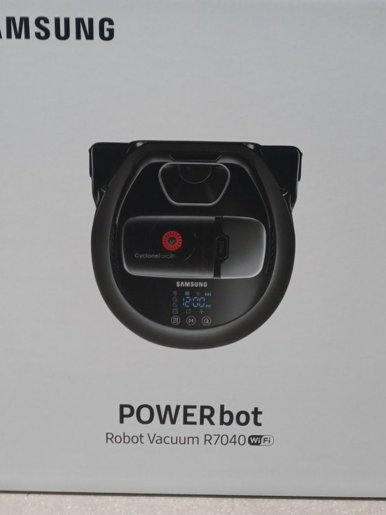 Samsung - Powerbot - Robot Vacuum R7040 Wifi - 20x More Powerful Suction, Edge Clean Master, Fullview Sensor 2.0, Visionary Mapping Plus