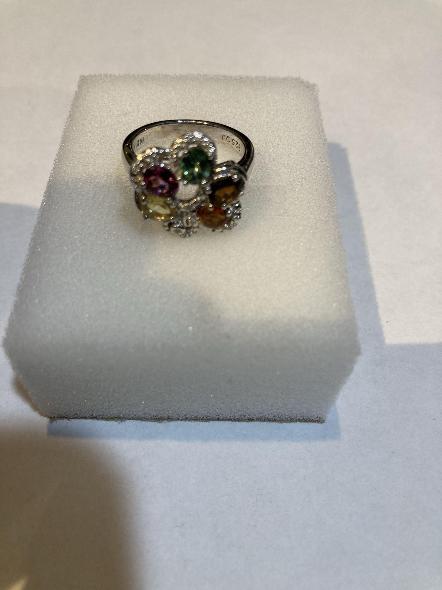 Multi Colored Tourmaline Ring
