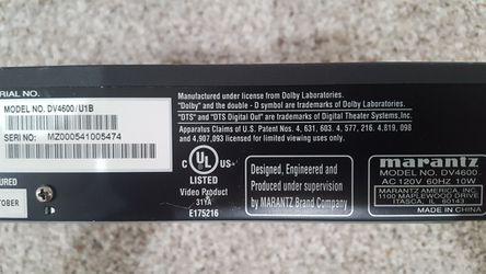 MARANTZ DV4600 *MINT* DVD PLAYER DOLBY DIGITAL DTS Thumbnail