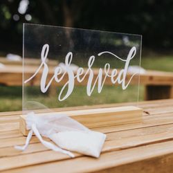 Reserved Sign For Weddings Events  Thumbnail