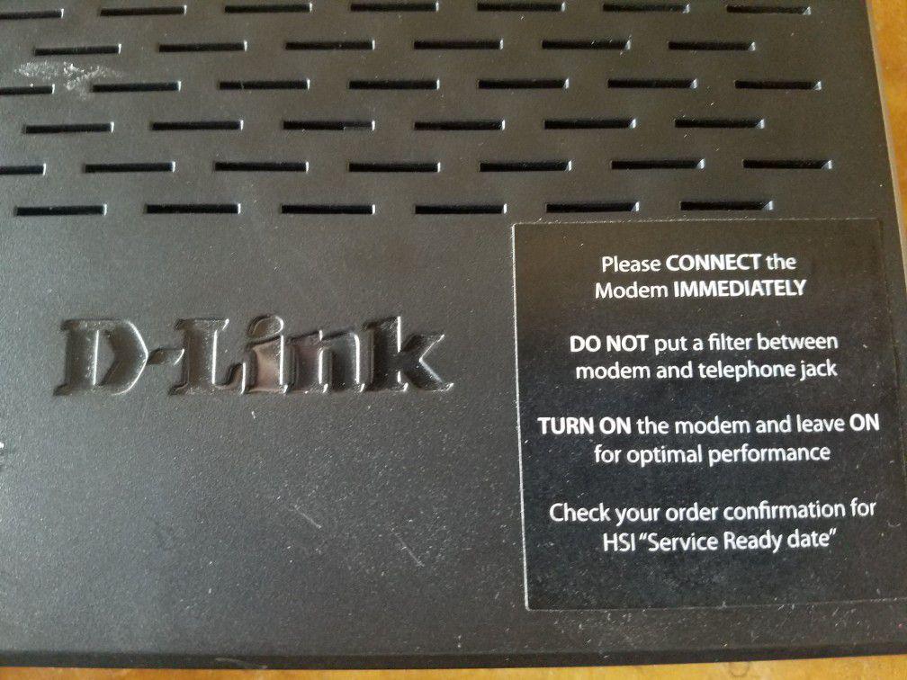 D Link modem model DSL 2750B Computer