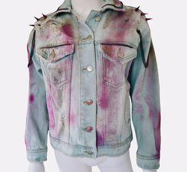 Mali-Boo Barbie Denim pink Custom jacket XS Thumbnail