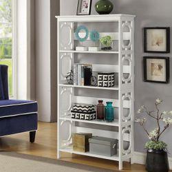Omega White 5 Tier Bookcase Thumbnail