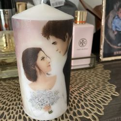 Candle With Picture Of Wedding Thumbnail