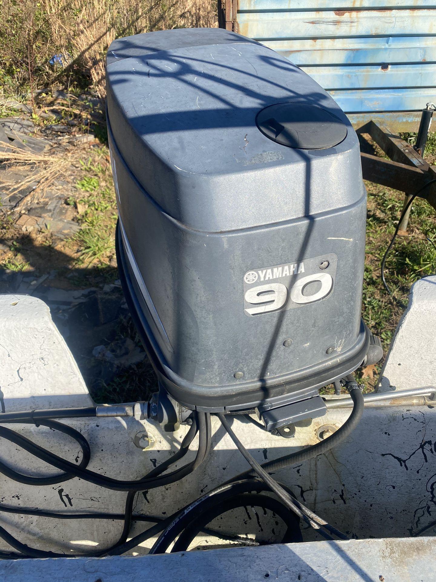 90 hp Yamaha outboard motor