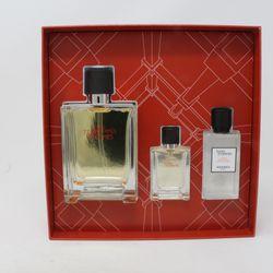 Hermes Terre D'hermes Eau De Toilette 3 Pcs Gift Set / New With Box Thumbnail