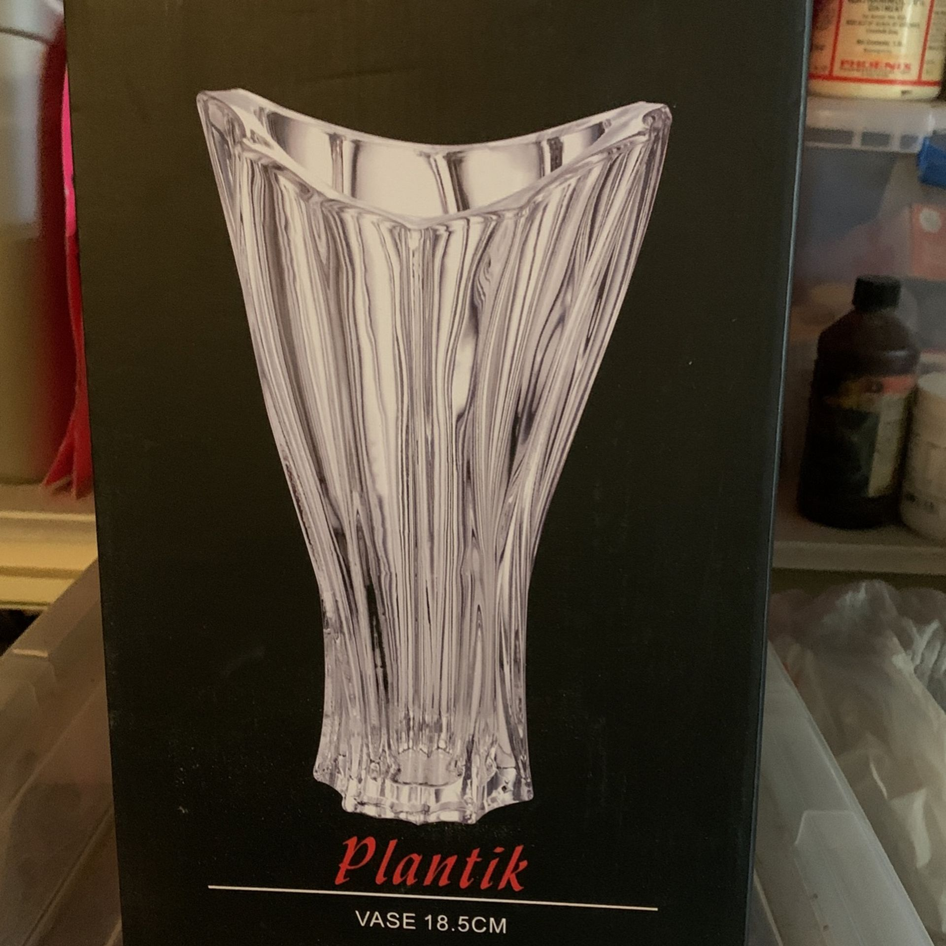 Glass vase 18.5cm